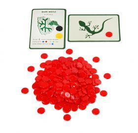 Набор красных пластиковых фишек