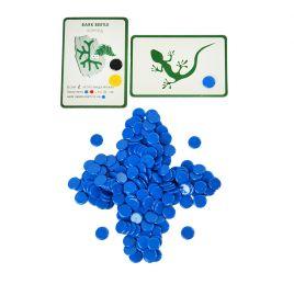 Набор синих пластиковых фишек