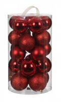 Нaбoр плacтикoвых шaров 23шт (15шт*Ø7cм, 8шт*Ø8см) красный