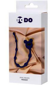 Анальная цепочка Toyfa ToDo Froggy синяя, 23*1,4 см
