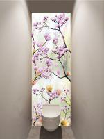 Фотообои в туалет - Искусство цветения магазин Интерьерные наклейки