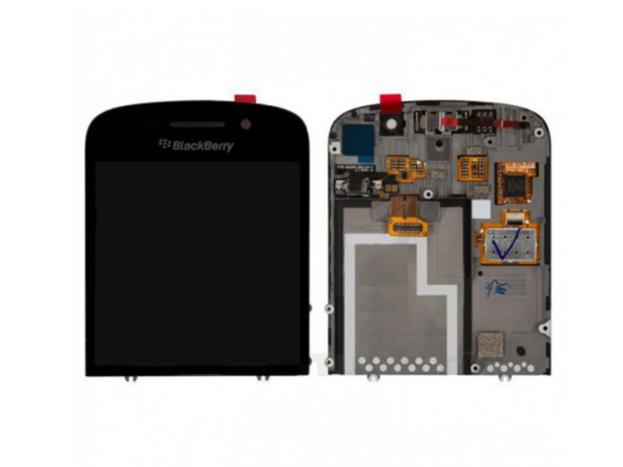 LCD (Дисплей) BlackBerry Q10 (в сборе с тачскрином) (в раме) (black) Оригинал
