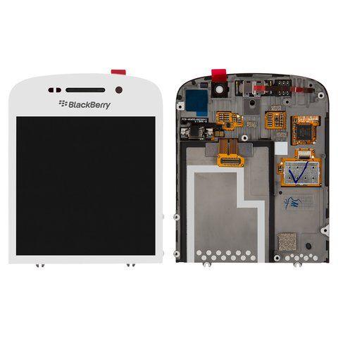 LCD (Дисплей) BlackBerry Q10 (в сборе с тачскрином) (в раме) (white) Оригинал