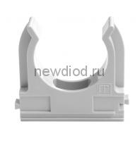 Крепеж-клипса для труб АБС-пластик в карт д32 (50шт/500шт уп/кор) Промрукав