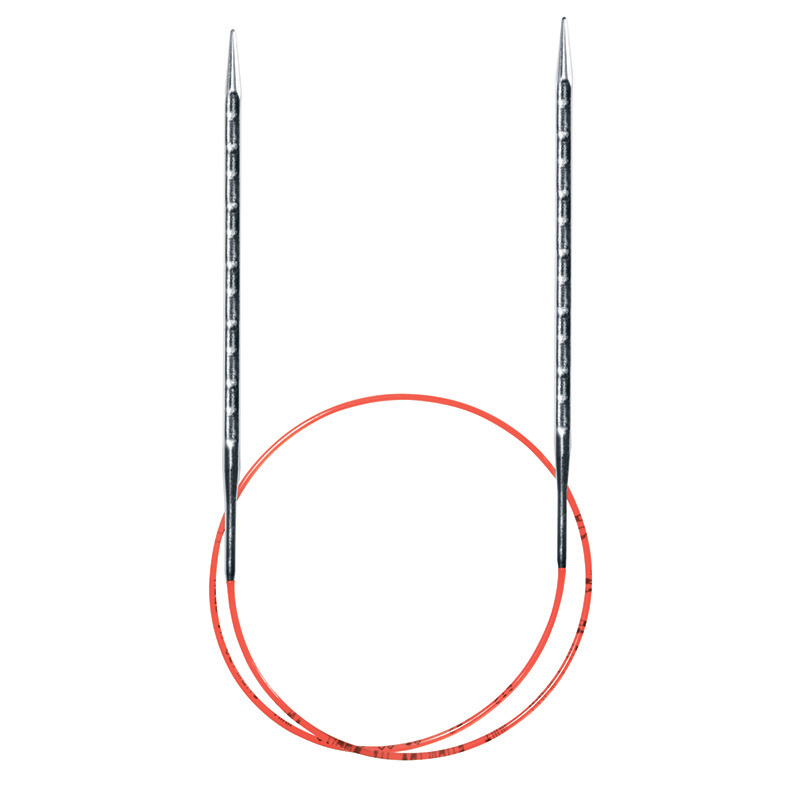 Спицы ADDI NOVEL супергладкие круговые c квадратным кончиком 100 см