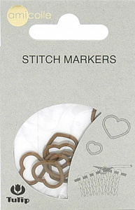 "Маркер для вязания ""amicolle"", сердце 5*6.5мм"
