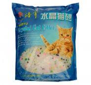 Haoyu Crystal Cat Впитывающий силикагелевый наполнитель (Цветные гранулы) 15кг