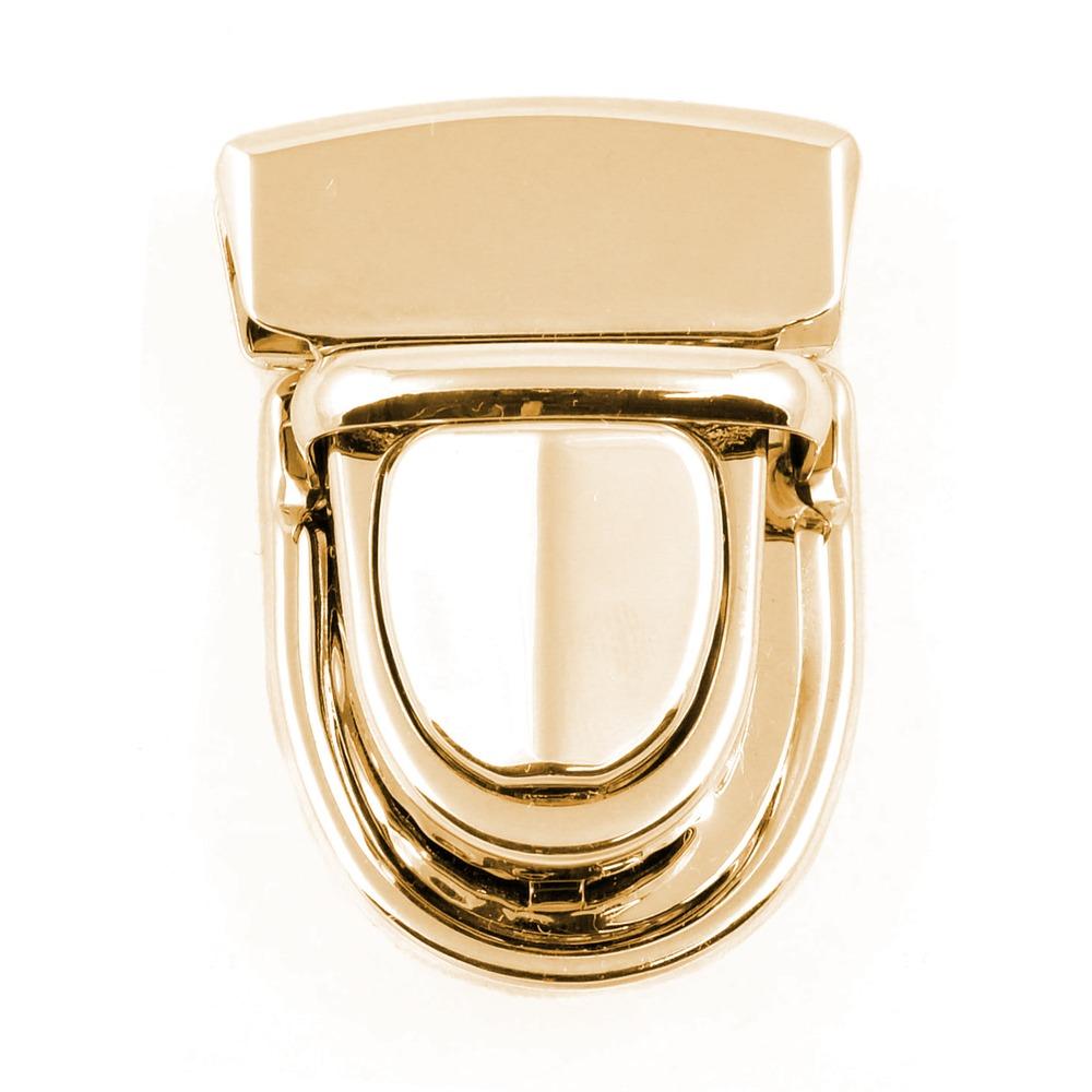 Замок-клапан на зажимах 30*40 полированный золото