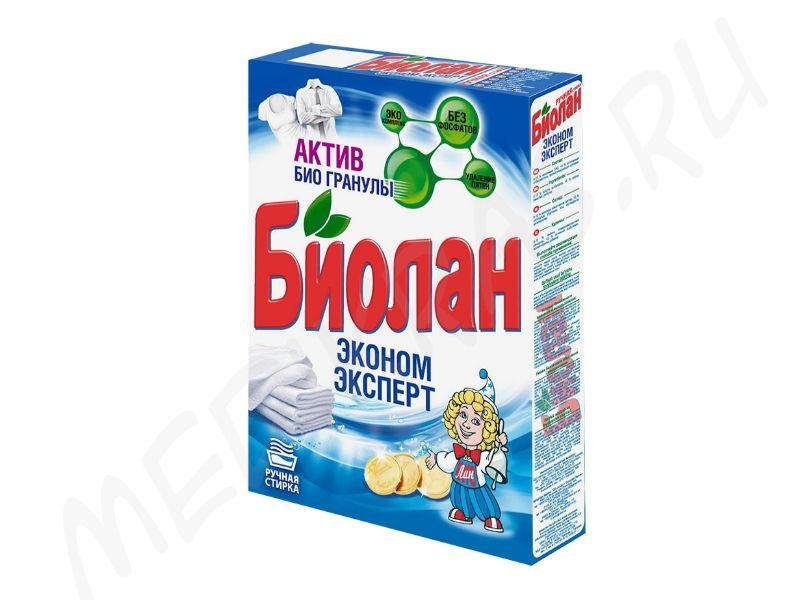 """Стиральный порошок """"Биолан""""  для ручной стирки Эконом эксперт 350 гр"""