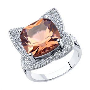 Кольцо из серебра с фианитом 94014563 SOKOLOV