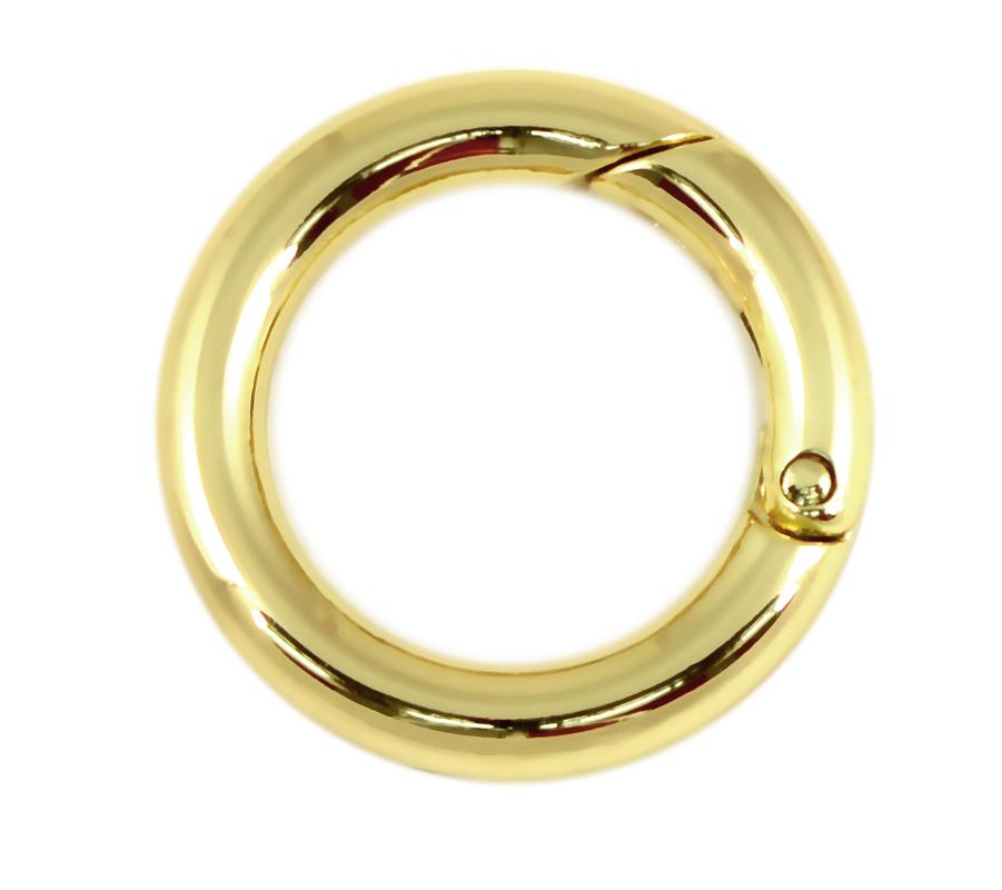 Кольцо разъемное 25 мм золото