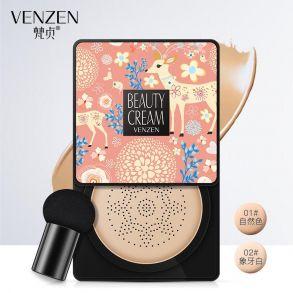 VENZEN Beauty Cream тональный крем со спонжем для нанесения 20гр