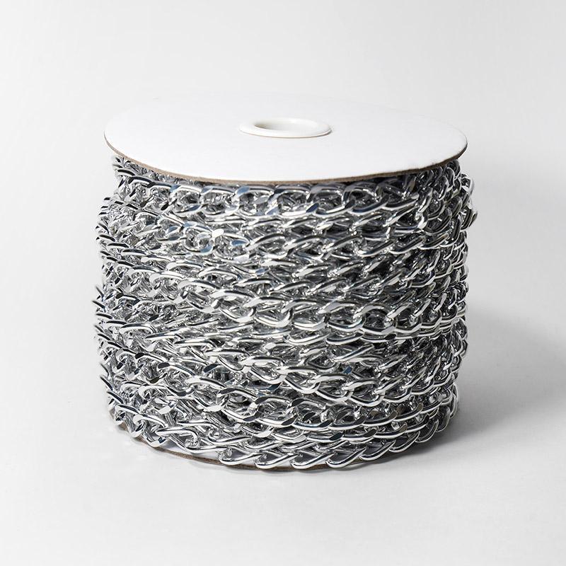 Цепь декоративная 14,8х9,7мм 10м серебро