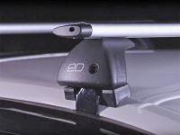 Багажник на крышу Nissan Note, Евродеталь, крыловидные дуги