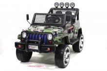 Детский электромобиль River Toys Jeep T008TT 4*4 камуфляж