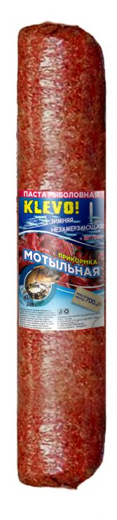 Прикормка KLEVO колбаса паста мотыльная зимняя с бетаином