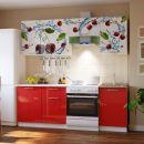 Кухонный гарнитур Риал 2К-107-красный 2100