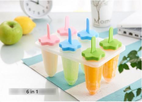 Формы для фруктового льда и мороженого, 6 шт