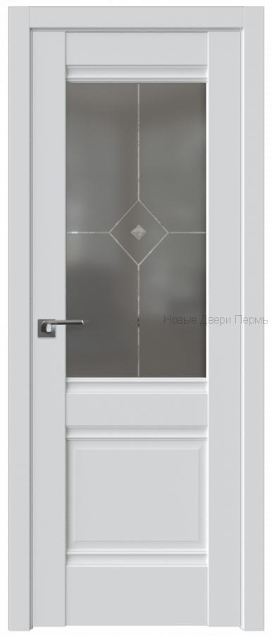 2U АЛЯСКА стекло Графит - PROFIL DOORS межкомнатные двери