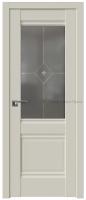 2U МАГНОЛИЯ САТИНАТ УЗОР  графит С ПРОЗРАЧНЫМ ФЬЮЗИНГОМ - PROFIL DOORS межкомнатные двери