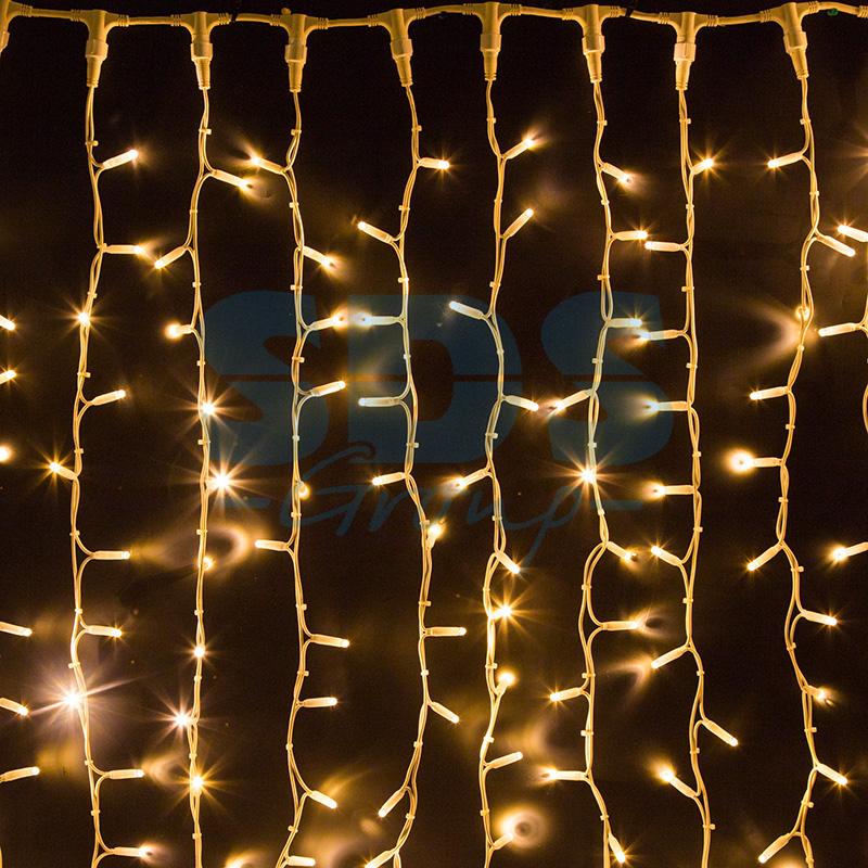 Светодиодная гирлянда Шторка 320 LED, 3х2 м, Цвет Свечения Белый Теплый