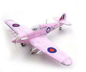 Сборная модель истребитель Хоукер «Харрикейн» 1:48 Розовый