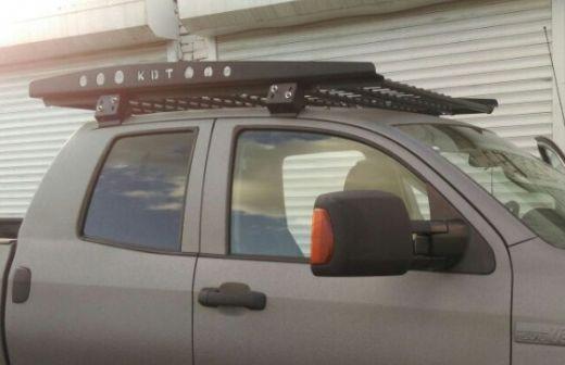 Багажник экспедиционный алюминевый  Тойота Тундра Дабл Каб 2007-2013/ 2014+ Toyota Tundra Double Cab
