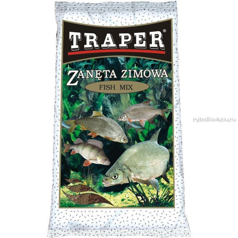 Прикормка сухая Traper Winter Fish Mix (Зимняя рыбный микс) 750гр