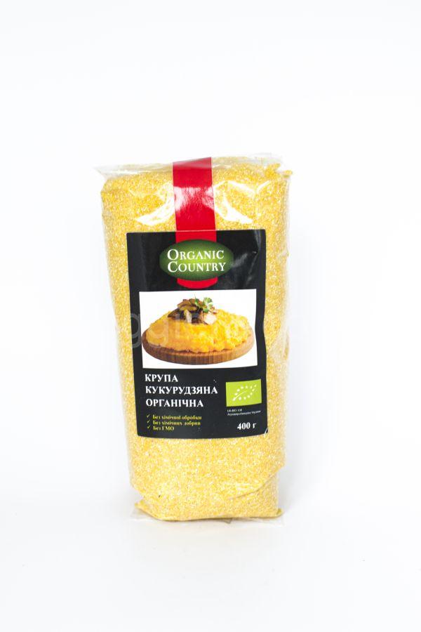Органическая кукурузная крупа Organic Country,400 грамм