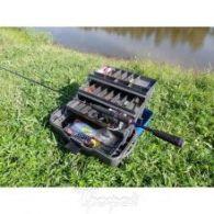 Ящик рыболова трехполочный Helios синий