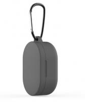 Силиконовый чехол для наушников Xiaomi Redmi Airdots c карабином ( Серый )