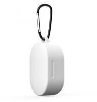 Силиконовый чехол для наушников Xiaomi Redmi Airdots c карабином ( Белый )