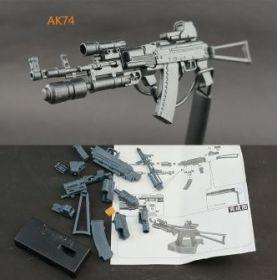 Сборная модель автомата AK74 1:6