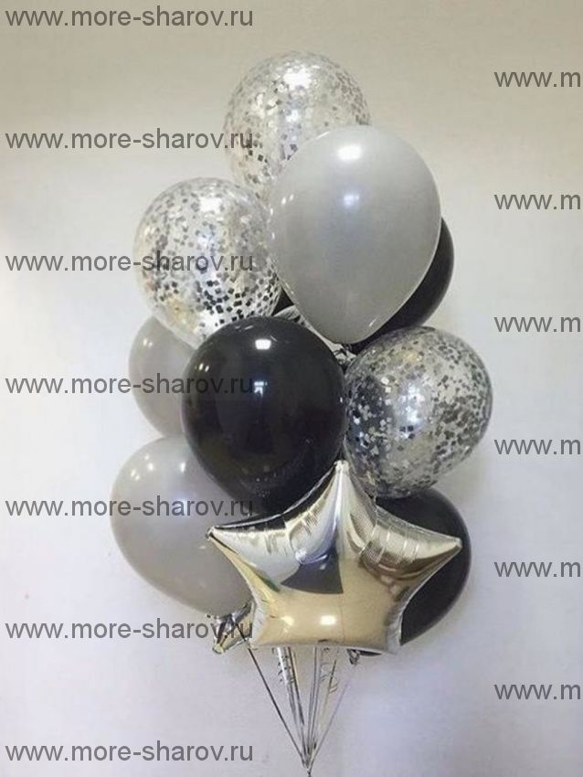 Фонтан шаров Черное серебро