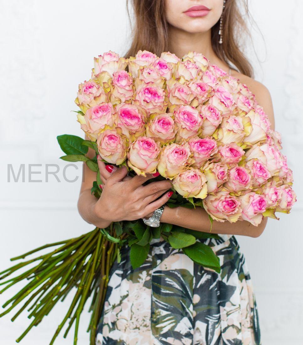 Букет из 51 розы 70 см