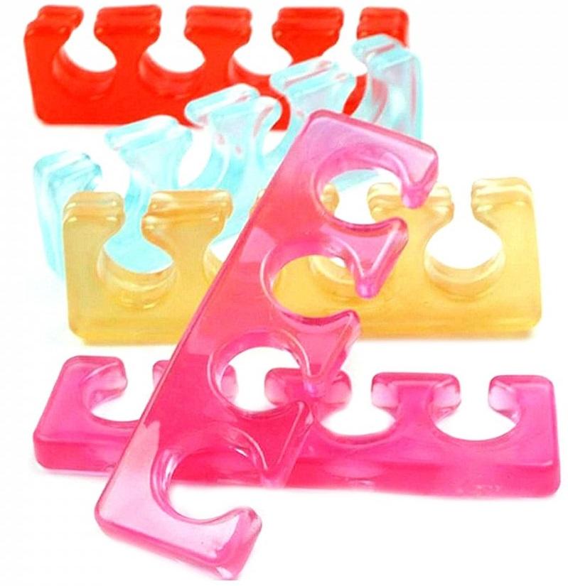 Разделители пальцев для педикюра силиконовые (цвет в ассортименте)