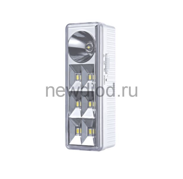 Светильник светодиодный аварийный СБА 2207DC 6+1LED 1.0Ah lithium battery DC