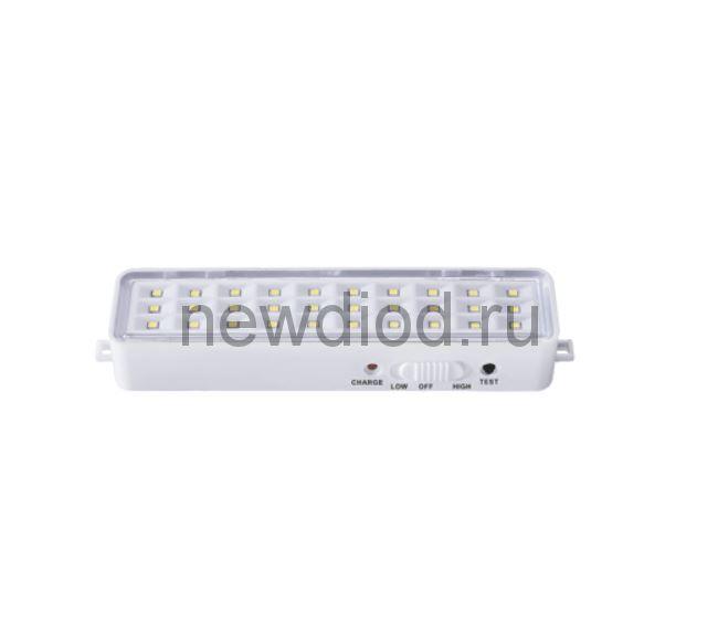 Светильник светодиодный аварийный СБА 1096-30DC 30LED 600mAh lithium battery DC