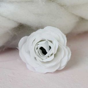 Цветок 2 см - тканевый Белый