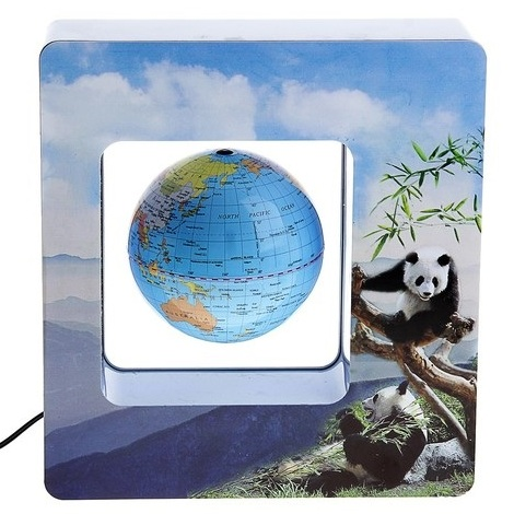 Левитирующий глобус  с пандами