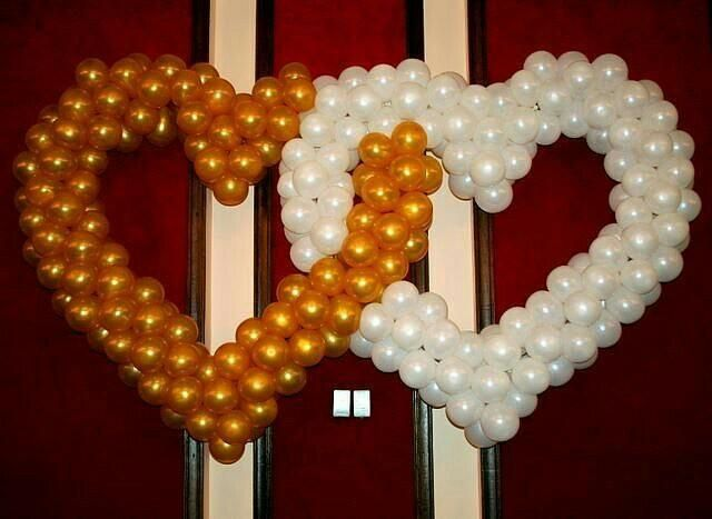 Сдвоенные сердца из шаров 2