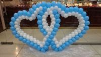 Сердце  плетёное из шаров на свадьбу