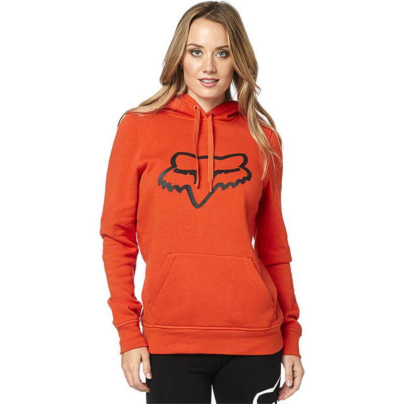 Fox Centered Pullover Hoody Atomic Orange женская толстовка, оранжевая