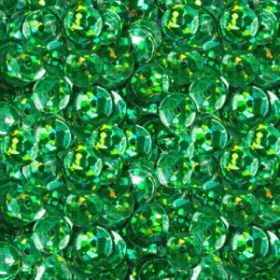 Пайетки неон 6 мм, зеленые 50 гр