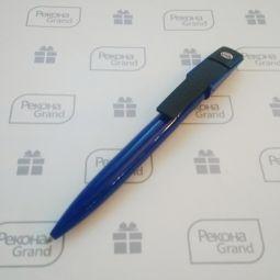 синие ручки с флешкой
