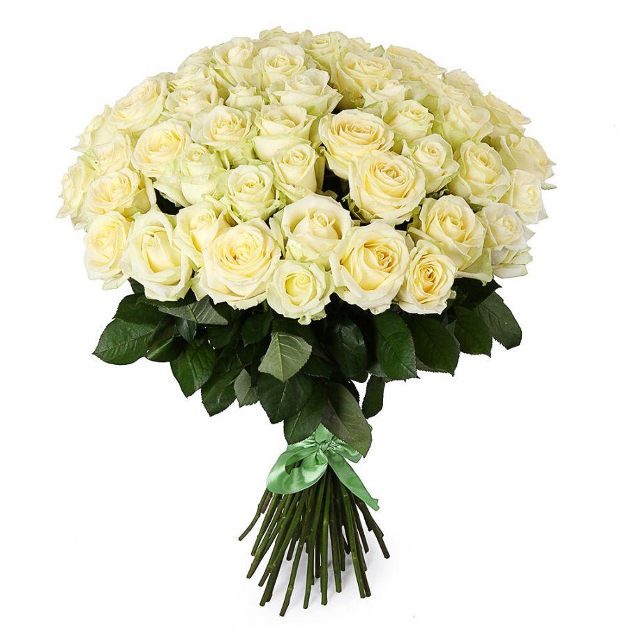 Букет из роз от 11 шт (белые)