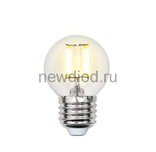 Лампа светодиодная LED-G45 5W/NW/E27/CL/DIM Air 4000К прозрачная Uniel