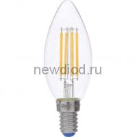 Лампа светодиодная диммируемая LED-C35 СВЕЧА 5W/WW/E14/CL/DIM Air 3000К 490Лм прозрачная Uniel