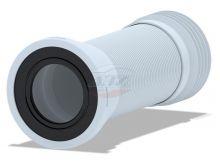 Удлинитель гибкий для унитаза с металической спиралью выпуск 110мм (260-560мм)