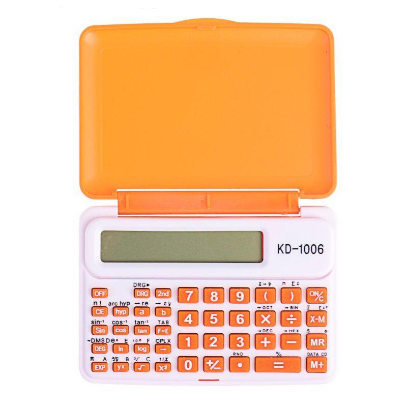 Инженерный 10-Разрядный Калькулятор Kenko KK-1006C, Цвет Оранжевый